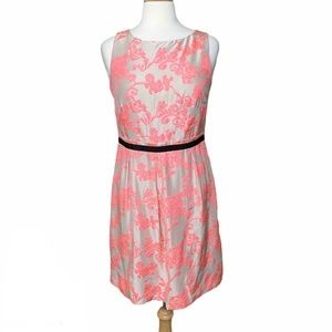 Loft Neon Floral Embroidered Dress